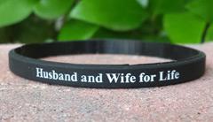 Black 1/4 Inch Wristband