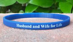 Blue 1/4 Inch Wristband