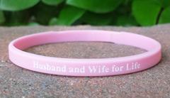 Pink 1/4 Inch Wristband